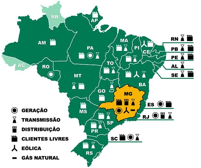 Mapa Cemig