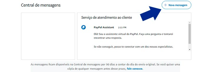 SAC PayPal por Mensagem